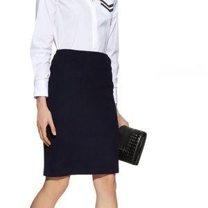 St. John Basics Black mini pencil skirt